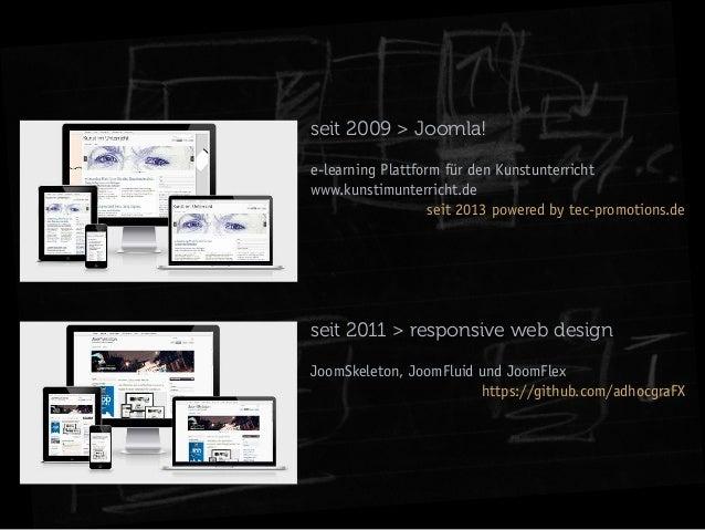 seit 2009 > Joomla! e-learning Plattform für den Kunstunterricht www.kunstimunterricht.de seit 2013 powered by tec-promoti...