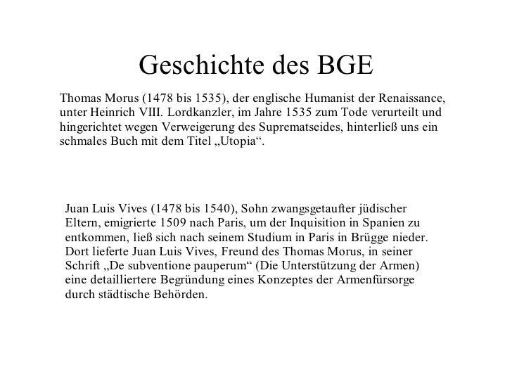 Geschichte des BGE