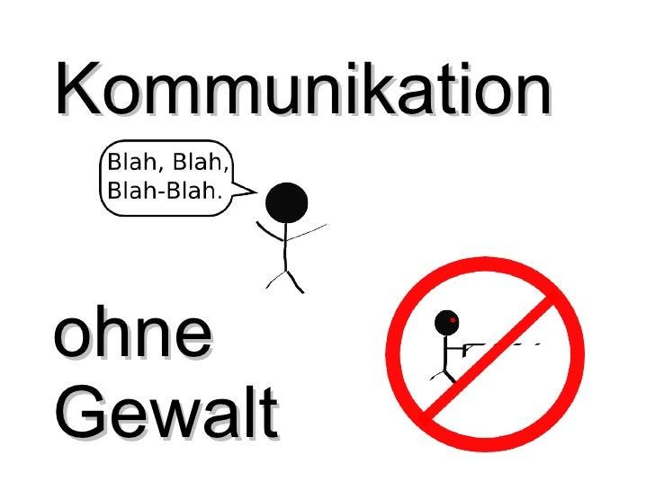 Kommunikation  ohne  Gewalt