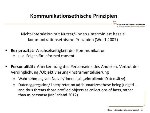 Kommunikationsethische Prinzipien Nicht-Interaktion mit Nutzer/-innen unterminiert basale kommunikationsethische Prinzipie...