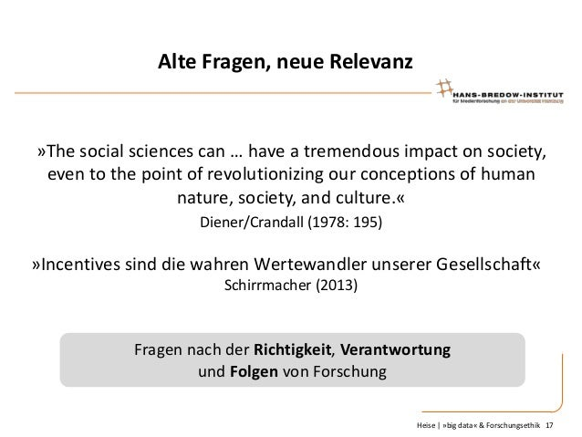 Alte Fragen, neue Relevanz  »The social sciences can … have a tremendous impact on society, even to the point of revolutio...