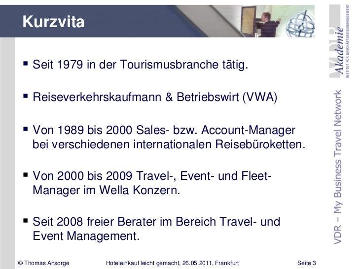Imex 2011 Vortrag Von Thomas Ansorge Hoteleinkauf Leicht Gemacht