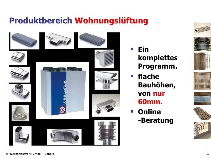 Produktbereich  Wohnungslüftung <ul><li>Ein komplettes Programm. </li></ul><ul><li>flache Bauhöhen, von  nur 60mm. </li></...