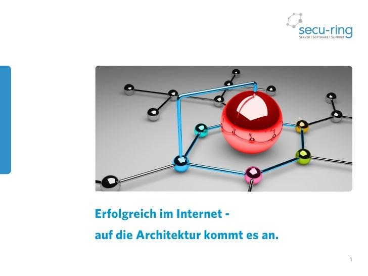 Erfolgreich im Internet -auf die Architektur kommt es an.                                   1