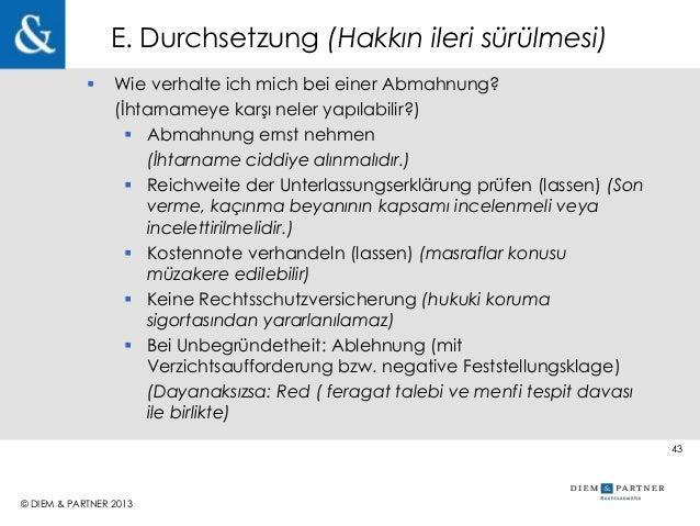 Alman, Avrupa ve Uluslararası Marka ve Haksız Rekabet Hukuku