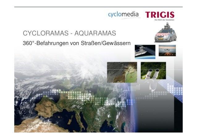 CYCLORAMAS - AQUARAMAS 360°-Befahrungen von Straßen/Gewässern