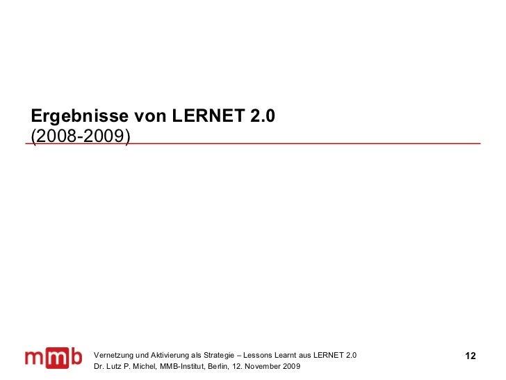 Ergebnisse von LERNET 2.0  (2008-2009)