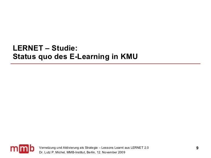 LERNET – Studie:  Status quo des E-Learning in KMU
