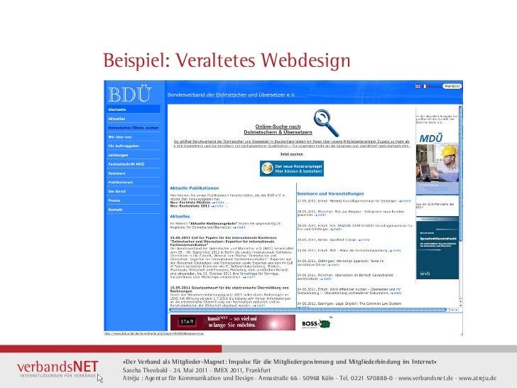 Beispiel: Veraltetes Webdesign  »Der Verband als Mitglieder-Magnet: Impulse für die Mitgliedergewinnung und Mitgliederbind...