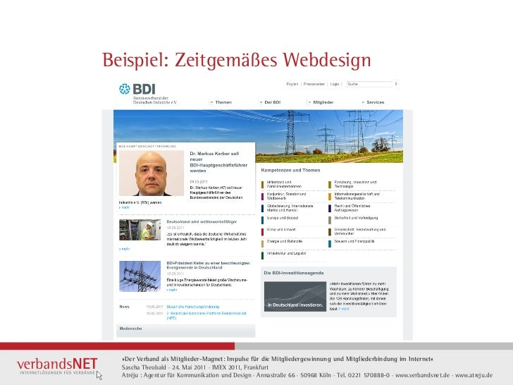 Beispiel: Zeitgemäßes Webdesign  »Der Verband als Mitglieder-Magnet: Impulse für die Mitgliedergewinnung und Mitgliederbin...