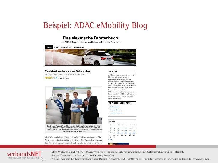 Beispiel: ADAC eMobility Blog  »Der Verband als Mitglieder-Magnet: Impulse für die Mitgliedergewinnung und Mitgliederbindu...