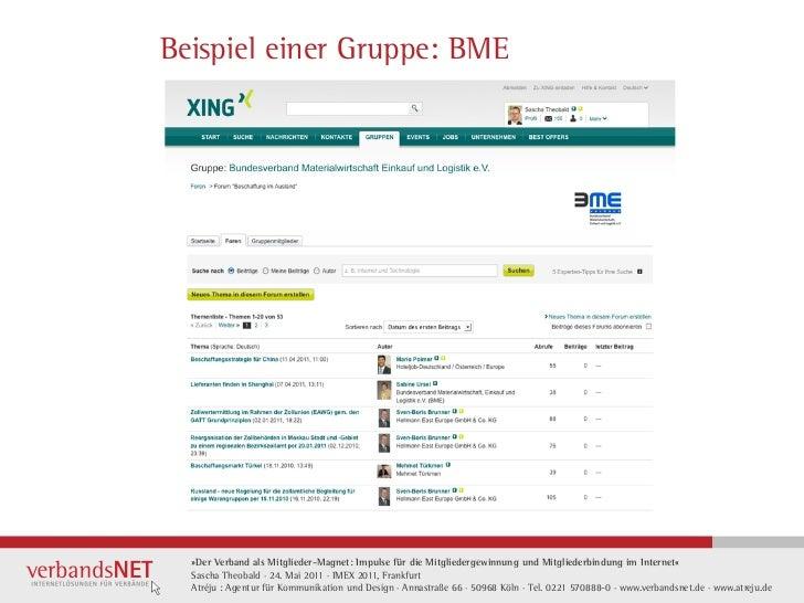 Beispiel einer Gruppe: BME  »Der Verband als Mitglieder-Magnet: Impulse für die Mitgliedergewinnung und Mitgliederbindung ...