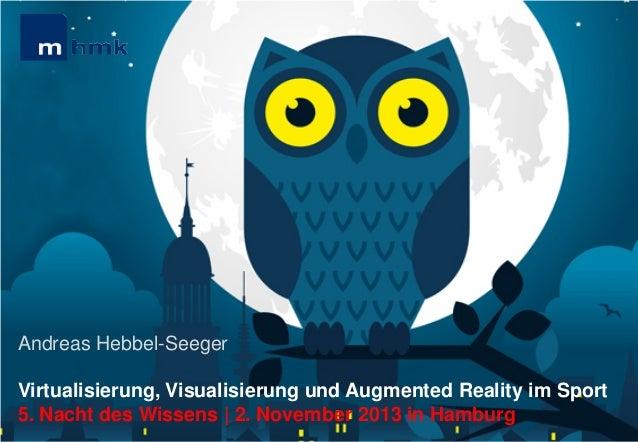 MHMK Macromedia Hochschule für Medien und Kommunikation  Andreas Hebbel-Seeger Virtualisierung, Visualisierung und Augment...