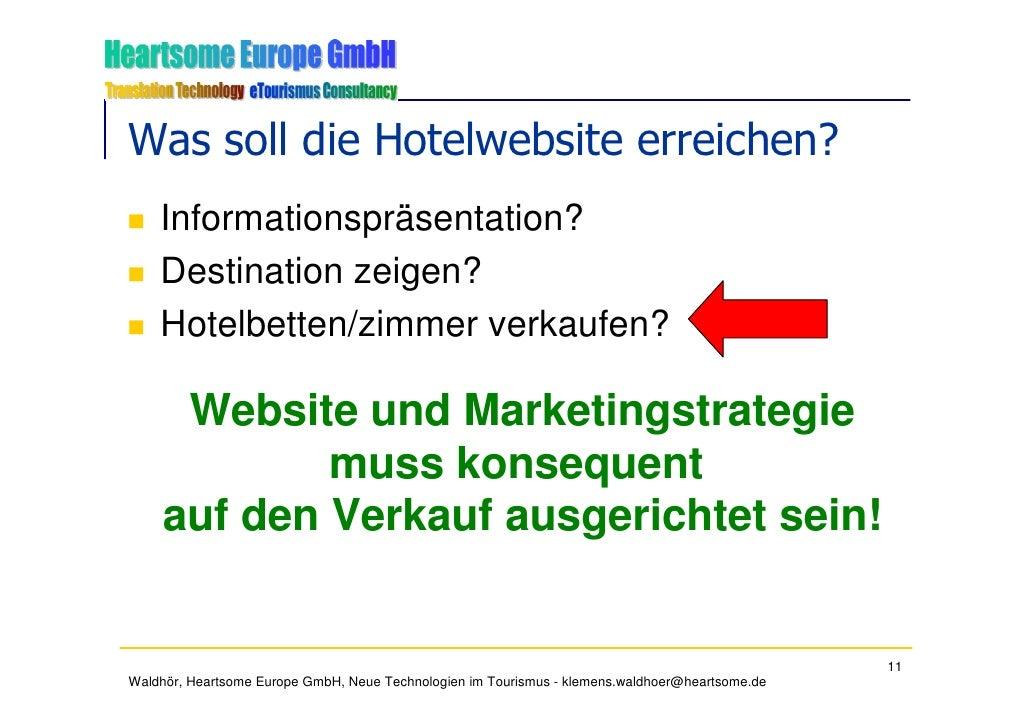 Was soll die Hotelwebsite erreichen?     Informationspräsentation?     Destination zeigen?     Hotelbetten/zimmer verkaufe...