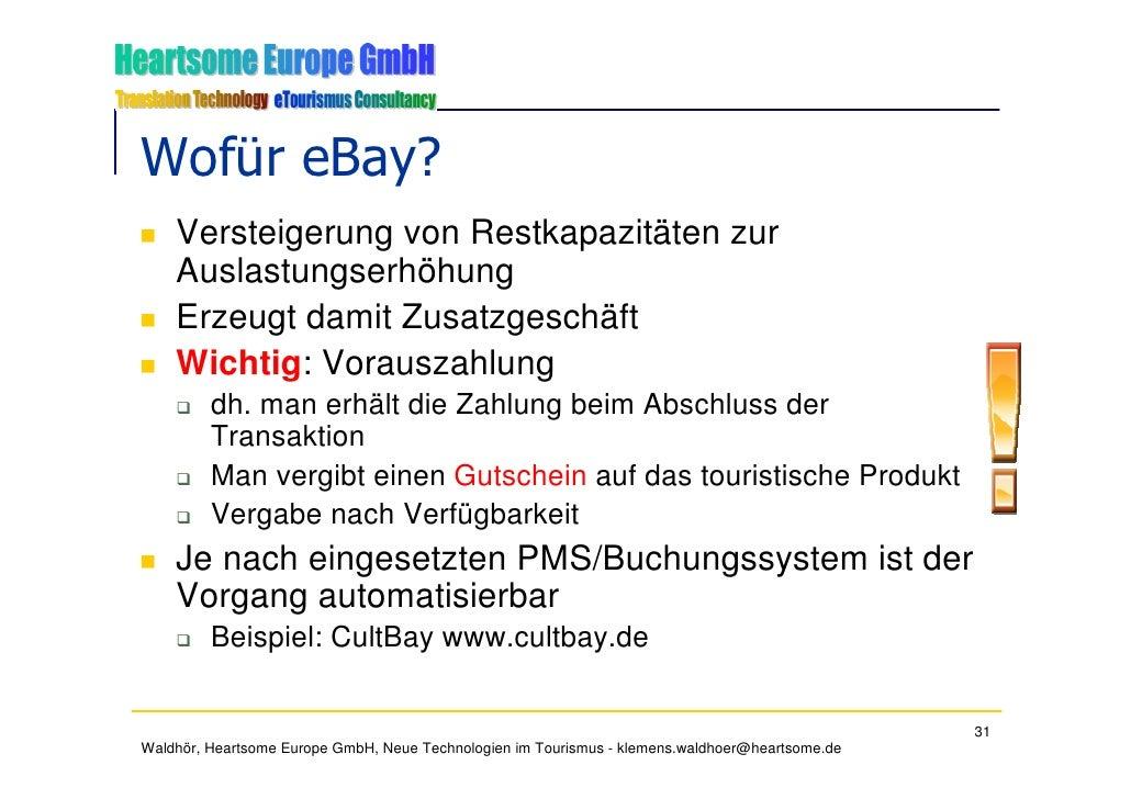 Wofür eBay?     Versteigerung von Restkapazitäten zur     Auslastungserhöhung     Erzeugt damit Zusatzgeschäft     Wichtig...