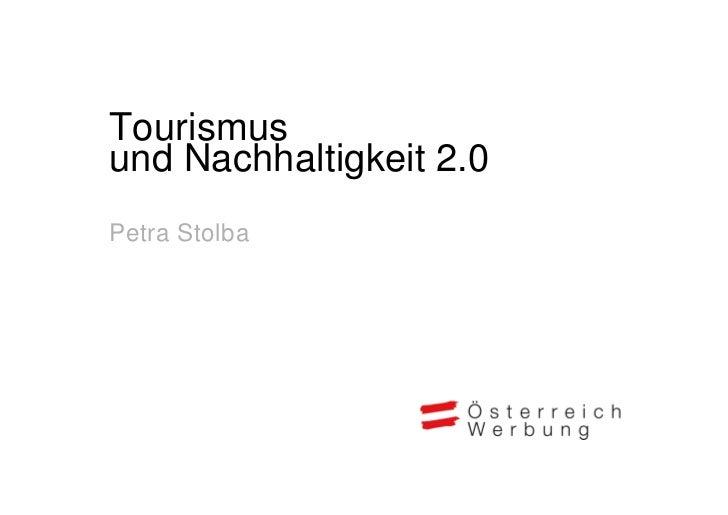 Tourismusund Nachhaltigkeit 2.0Petra Stolba