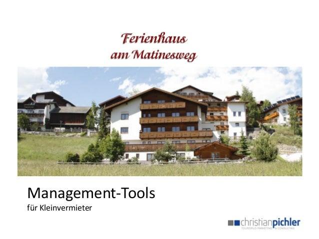 Management-Tools  für Kleinvermieter