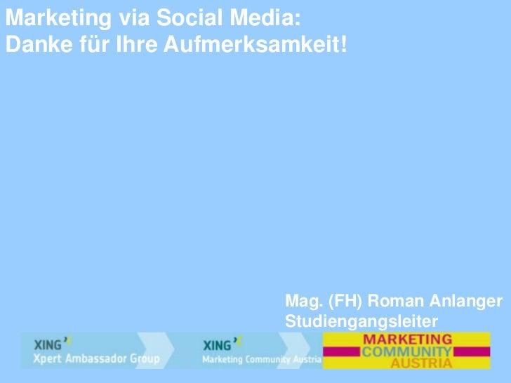 Vortrag von roman anlanger marketing via social media graz - Suministros industriales koala ...