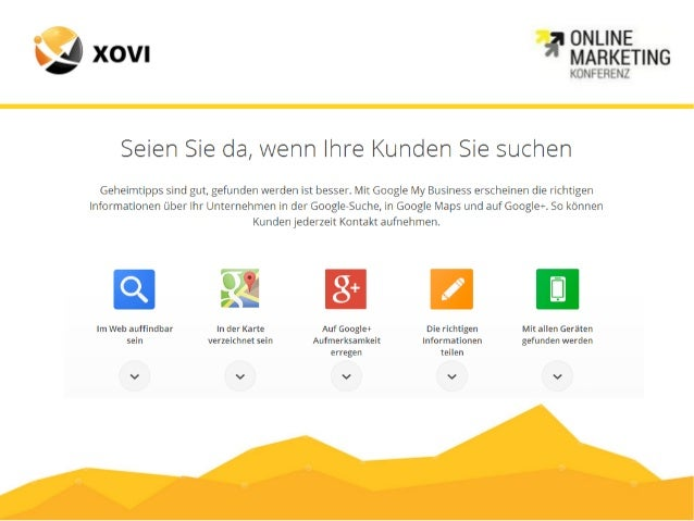 7 Schritte zur lokalen  Unternehmensseite  bei Google