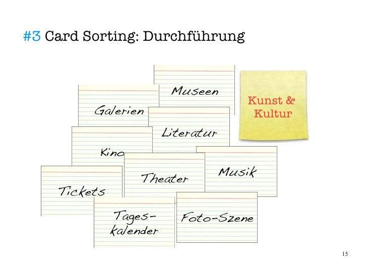 #3 Card Sorting: Durchführung                             Museen                                      Kunst &          Gal...