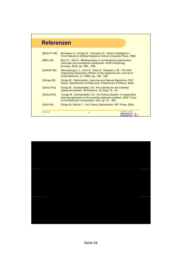 M dorigo optimization learning and natural algorithms phd thesis