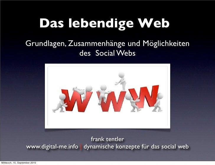 Das lebendige Web                    Grundlagen, Zusammenhänge und Möglichkeiten                                  des Soci...