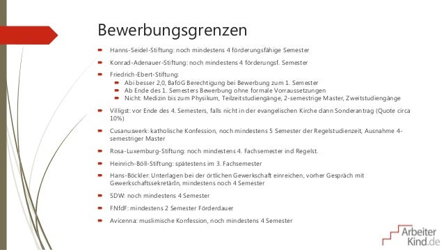 Stipendienauswahl Und -Bewerbung (Vortrag Am Studieninformationstag D…