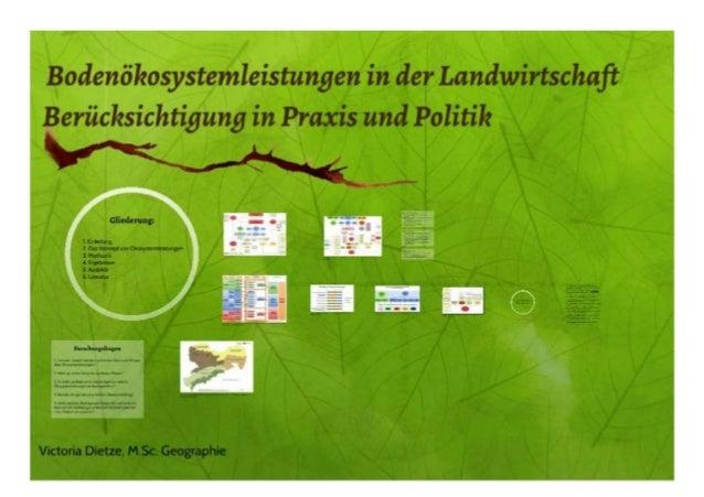 Bodenökosystemleistungen in der Landwirtschaft