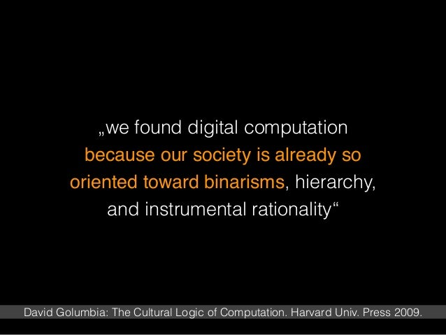 The Cultural Logic of Computation