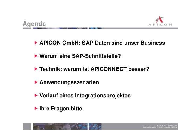 Zertifizierte SAP-Schnittstelle mit APICONNECT Slide 2
