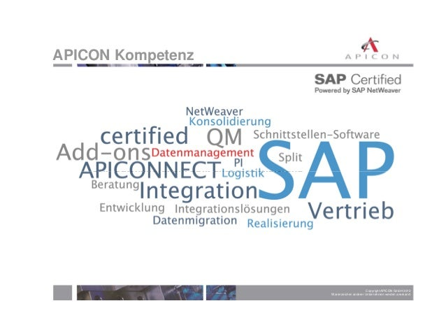 Zertifizierte SAP-Schnittstelle mit APICONNECT Slide 3