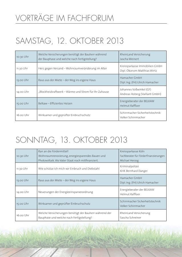 Bergische Bautage 2012: Vorträge im Fachforum