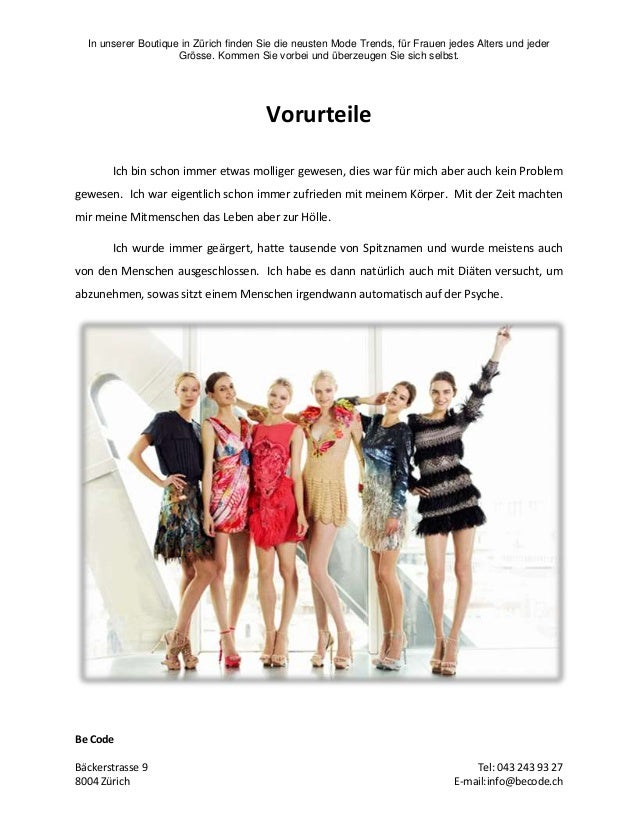 In unserer Boutique in Zürich finden Sie die neusten Mode Trends, für Frauen jedes Alters und jeder Grösse. Kommen Sie vor...