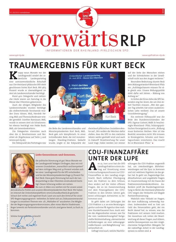 Vorwärts RLP, Ausgabe Juni/Juli
