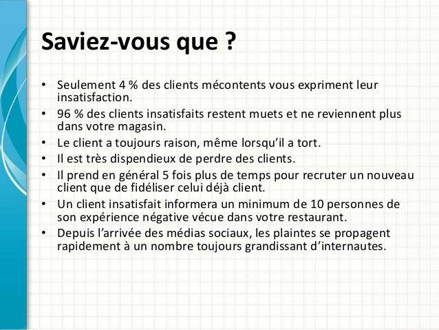 Vos clients, des actifs à protéger, service de client mystère pour restaurant Slide 3