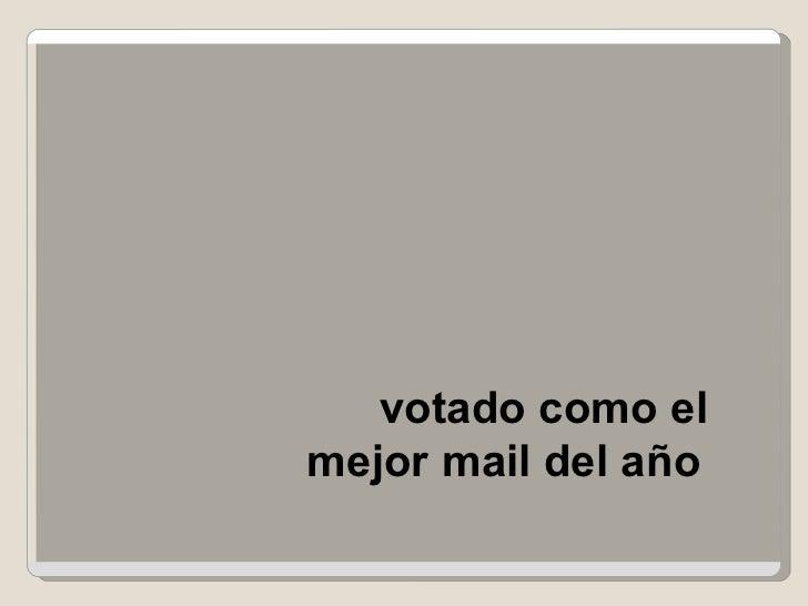 votado como elmejor mail del año