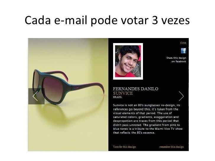 Cada e-mail pode votar 3 vezes