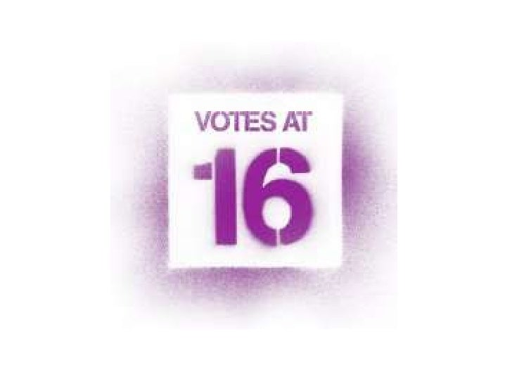 Should the government change thelaw so that 16 and 17 year olds can               vote?