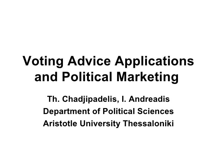 Voting advice applications and political marketing