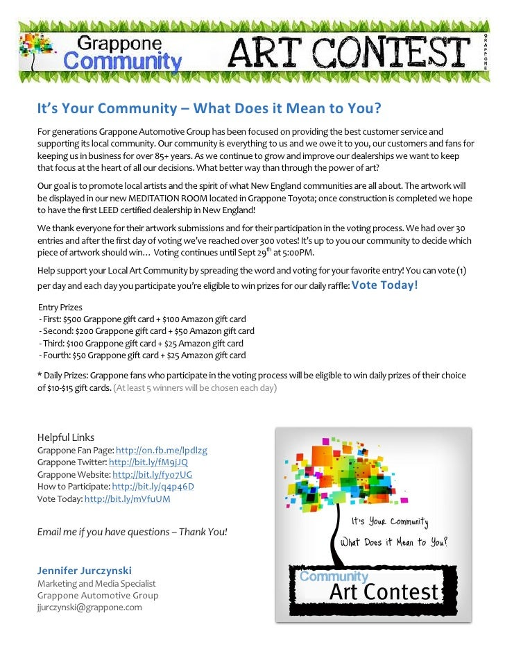Voting for the community art contest its your community what does it mean to youfor generations grappone automotive group reheart Images