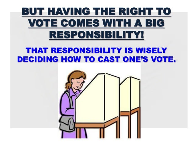 Is voting a right privilege or responsibility essay