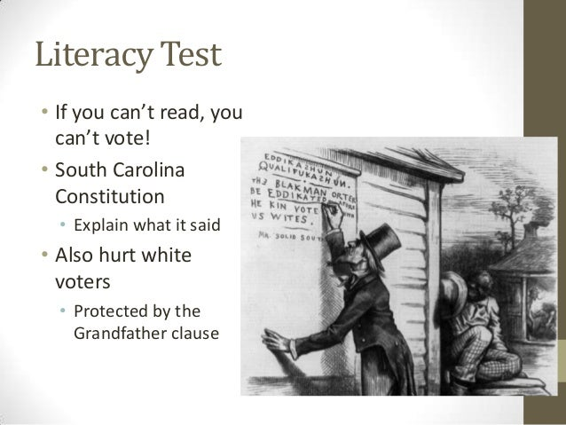 Voting Restrictions After Reconstruction