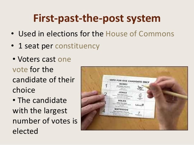 advantages and disadvantages of the first past the post electoral system essay They concisely explain first-past-the-post, and then go on to discuss the advantages and disadvantages of fptp in an admirable level of detail this structure enables the candidate to show the examiner that they understand fptp, and allows them to introduce the debate before examining it in more detail.