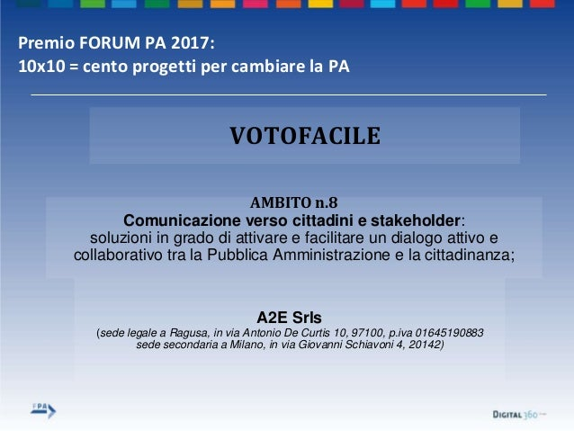 A2E Srls (sede legale a Ragusa, in via Antonio De Curtis 10, 97100, p.iva 01645190883 sede secondaria a Milano, in via Gio...
