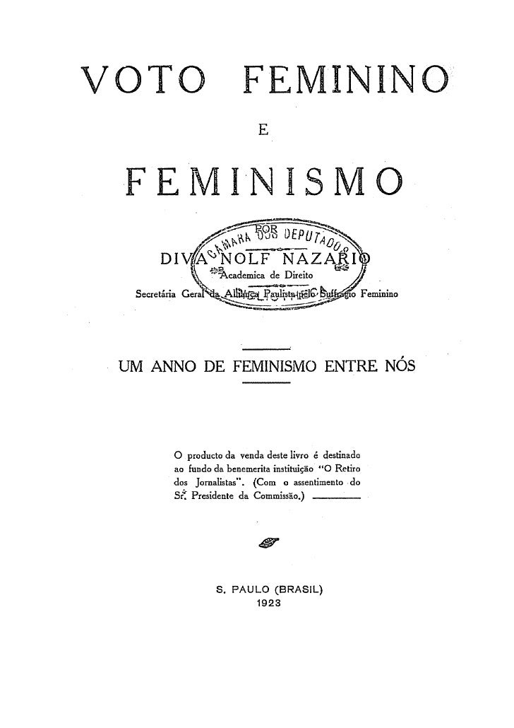 Voto feminino e feminismo