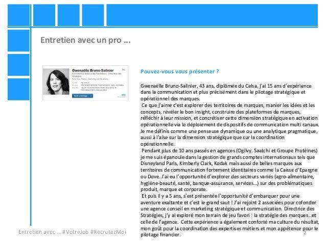 Gwenaelle bruno salinier votre job recrutezmoi i4emploi - Entretien avec cabinet de recrutement ...