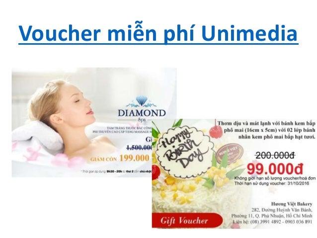 Voucher miễn phí Unimedia