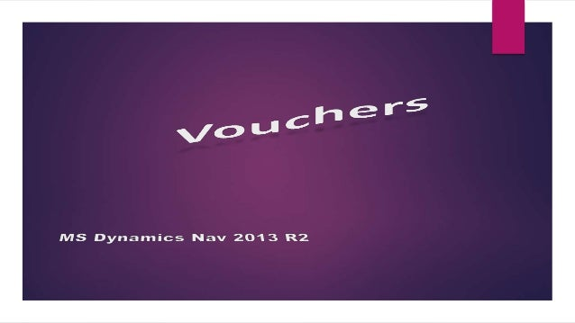  How to: Set Up Vouchers To use vouchers, you must set up the following prerequisites:  Different number series for diff...