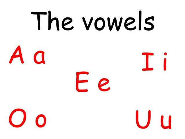The vowelsAa        Ii    EeOo       Uu