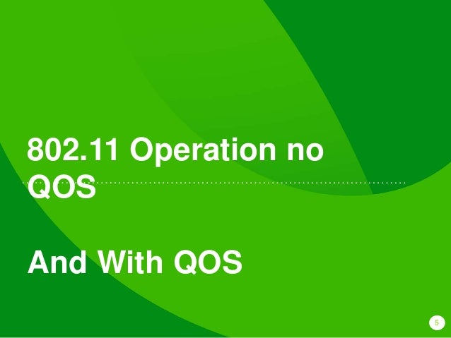 5 802.11 Operation no QOS And With QOS
